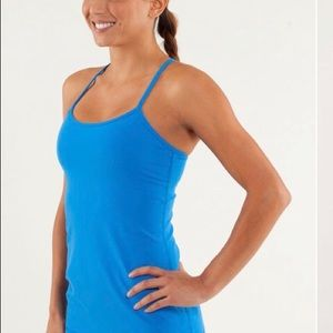 Lululemon power Y tank light beaming blue size 8